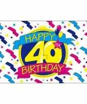 Feestvlag happy birthday 40 jaar feestje