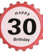 Flessenopener 30 jaar feestartikelen leeftijd feestje