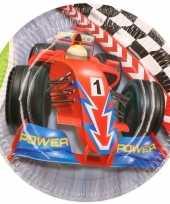 Formule 1 kinderfeest bordjes 12x stuks feestje
