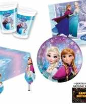 Frozen lights kinderfeestje versiering tafel pakket 8 pers kaa feestje