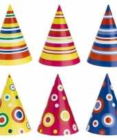 Gekleurde feesthoedjes 50 stuks feestje