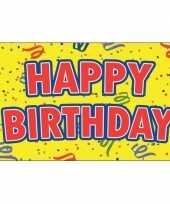 Happy birthday verjaardag feest vlag 90 x 150 cm feestje