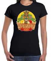Hawaii feest t-shirt shirt tiki bar aloha zwart voor dames feestje