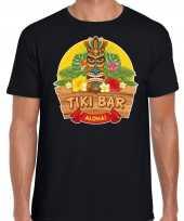 Hawaii feest t-shirt shirt tiki bar aloha zwart voor heren feestje