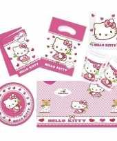 Hello kitty thema kinderfeestje versiering pakket 7 12 personen feestje