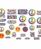 Hippie feest decoratie 30 stuks feestje