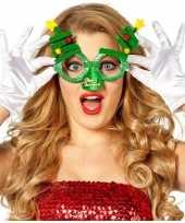 Kerst feest verkleed bril groen met kerstbomen voor volwassenen feestje