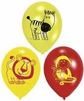 Kinderfeest ballonnen safari feestje