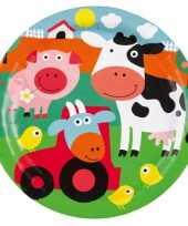 Kinderfeest bordjes boerderij feestje