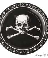 Kinderfeest piraten borden zwart feestje