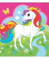 Kinderfeest unicorn servetjes 20 stuks feestje