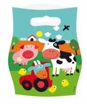Kinderfeest zakjes boerderij feestje