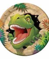 Kinderfeestje dinosaurus bordjes 8 stuks feestje