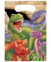 Kinderfeestje dinosaurus feestzakjes 8 stuks feestje