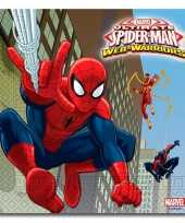 Kinderfeestje spiderman servetten 20 stuks feestje