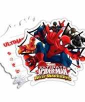Kinderfeestje spiderman warriors uitnodigingen feestje