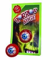 Kleverige horror oog ogen voor horror halloween feest feestje