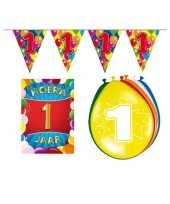 Leeftijd feestartikelen 1 jaar voordeel pakket feestje
