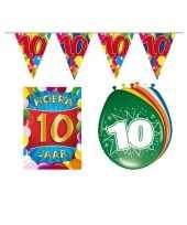 Leeftijd feestartikelen 10 jaar voordeel pakket feestje