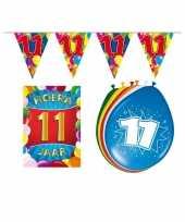 Leeftijd feestartikelen 11 jaar voordeel pakket feestje