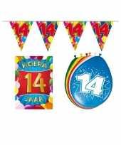 Leeftijd feestartikelen 14 jaar voordeel pakket feestje