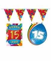 Leeftijd feestartikelen 15 jaar voordeel pakket feestje