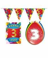 Leeftijd feestartikelen 3 jaar voordeel pakket feestje