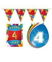 Leeftijd feestartikelen 4 jaar voordeel pakket feestje