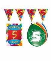 Leeftijd feestartikelen 5 jaar voordeel pakket feestje