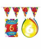 Leeftijd feestartikelen 6 jaar voordeel pakket feestje