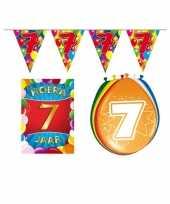 Leeftijd feestartikelen 7 jaar voordeel pakket feestje
