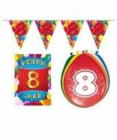 Leeftijd feestartikelen 8 jaar voordeel pakket feestje