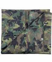 Leger thema feest camouflage afdekzeil groen 1 9 x 3 meter feestje