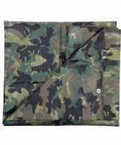 Leger thema feest camouflage afdekzeil groen 5 x 6 meter feestje