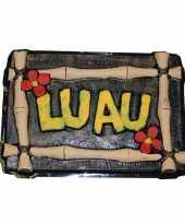 Luau decoratie bord hawaii feest feestje