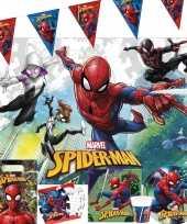 Marvel spiderman kinderfeest tafeldecoratie pakket 2 6 personen feestje