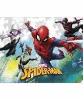Marvel spiderman themafeest tafelkleed tafelzeil 120 x 180 cm feestje