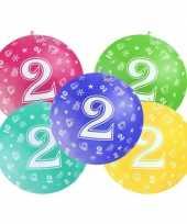 Mega ballon 2 jaar feestartikelen van 92 cm diameter feestje