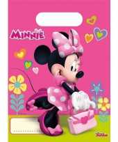 Minnie mouse feestzakjes 6 stuks feestje