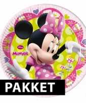 Minnie mouse kinderfeest set feestje