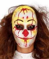 Moordenaar clown masker voor horror themafeest feestje