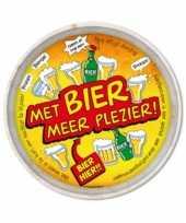 Oktoberfest feest metalen dienblad bier 30 cm feestje