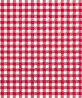 Oktoberfest feestservetten geruit rood wit 3 laags 20 stuks feestje