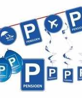 Pensioen met de vut themafeest pakket s blauw verkeersbord feestje