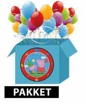 Peppa big kinderfeest pakket feestje