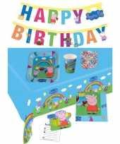 Peppa big kinderfeestje feestpakket 7 12 personen feestje
