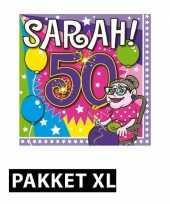Sarah 50 jaar leeftijd themafeest pakket xl versiering decoratie feestje