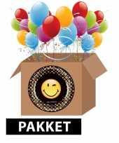 Smiley feest pakket feestje