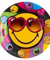 Smiley feestbordjes 8 stuks feestje