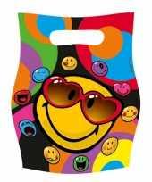 Smiley feestzakjes 6 stuks feestje